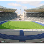 Blick in das Oval des Olympiastadions